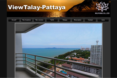 site location appartements MG Pong Pattaya Thaïlande