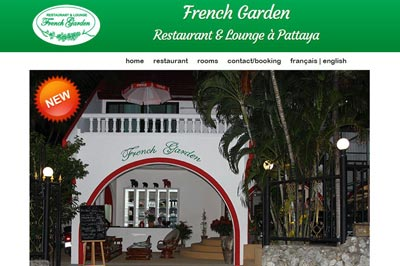 site restaurant French Garden Pattaya Thaïlande